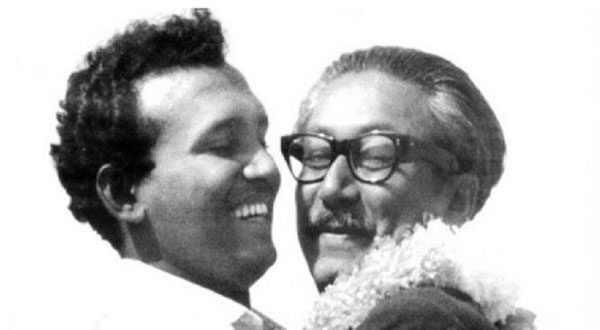 বঙ্গবন্ধু শেখ মুজিবুর রহমান ও তোফায়েল আহমেদ