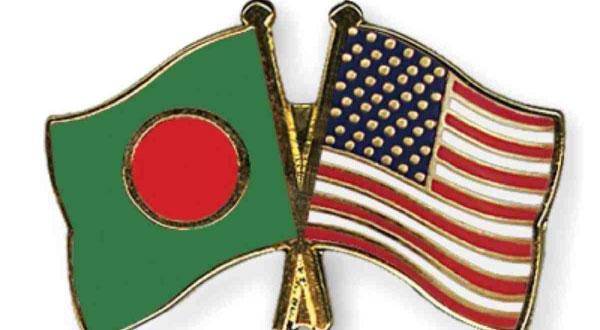 ছবি: বাংলাদেশ ও যুক্তরাষ্ট্রের পতাকা