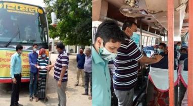 ঠাকুরগাঁও থেকে ধান কাটতে গাজীপুর-কুমিল্লায় ৪০ শ্রমিক