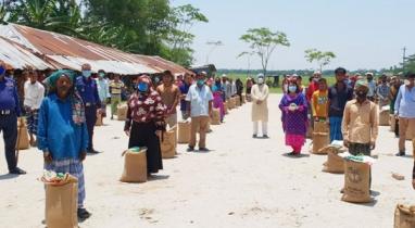 ব্রাহ্মণবাড়িয়ায় প্রধানমন্ত্রীর খাদ্য সহায়তা পেল ১০০০ পরিবার