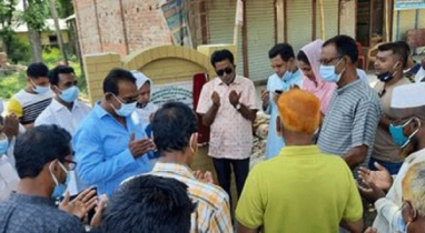 নাটোরে বনপাড়া পৌরসভায় দুটি সড়ক সংস্কার কাজের উদ্বোধন