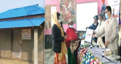 গৌরীপুরে ভূমিহীন ও গৃহহীন ১০২ পরিবার পেল ঘর