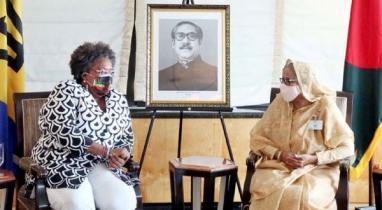শেখ হাসিনার সঙ্গে সৌজন্য সাক্ষাৎ করেছেন বার্বাডোজের প্রধানমন্ত্রী